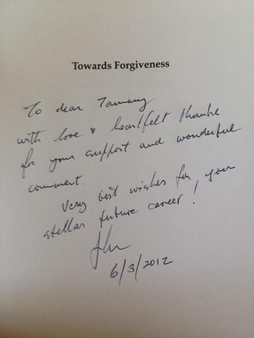 Towards Forgiveness by John Biggs