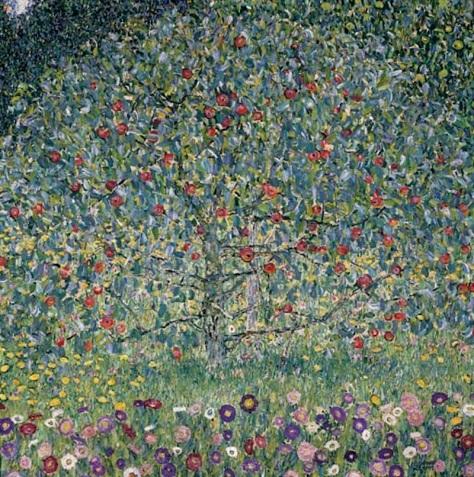 """GUSTAV KLIMT (1862-1918) """"Apple Tree I"""" by Gustav Klimt (1862-1918)"""